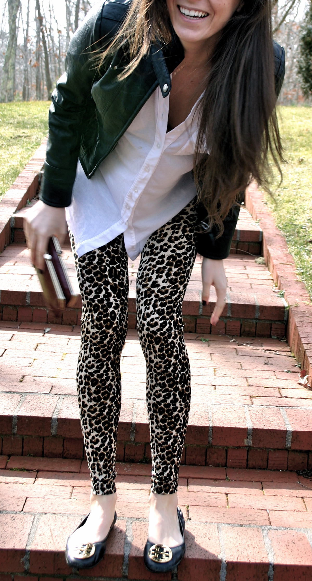 cheetah print leggings – pumps  iron