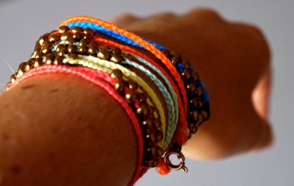 Diy Neon Braided Bead Bracelets  Pumps Amp Iron