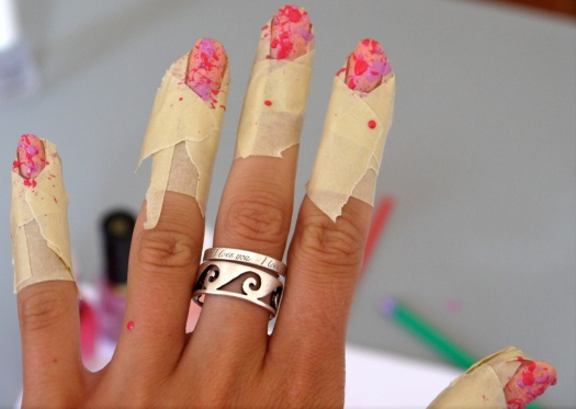 Diy Splatter Nail Polish
